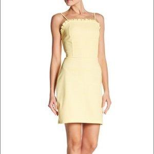 The vanity room yellow plaid ruffle dress